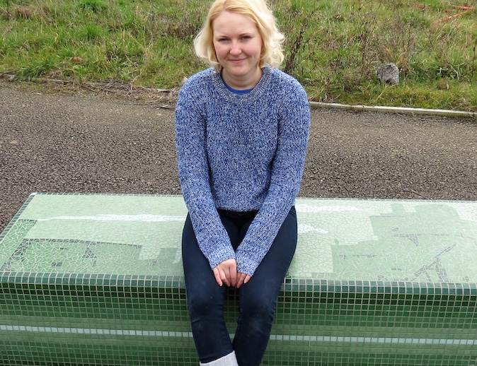 Amazing mosaic benches in Grays created by former South Essex College art student