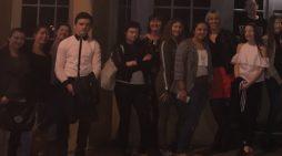 Gateway Academy students enjoy dining in the dark