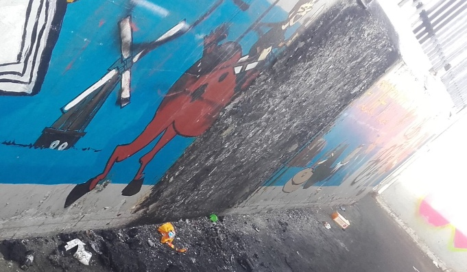 Vandals destroy mural on bridge in South Ockendon