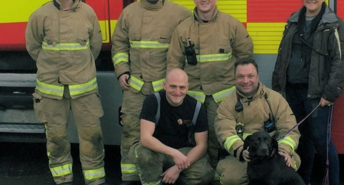 Firefighters rescue Remi the dog on One Tree Hill in Corringham