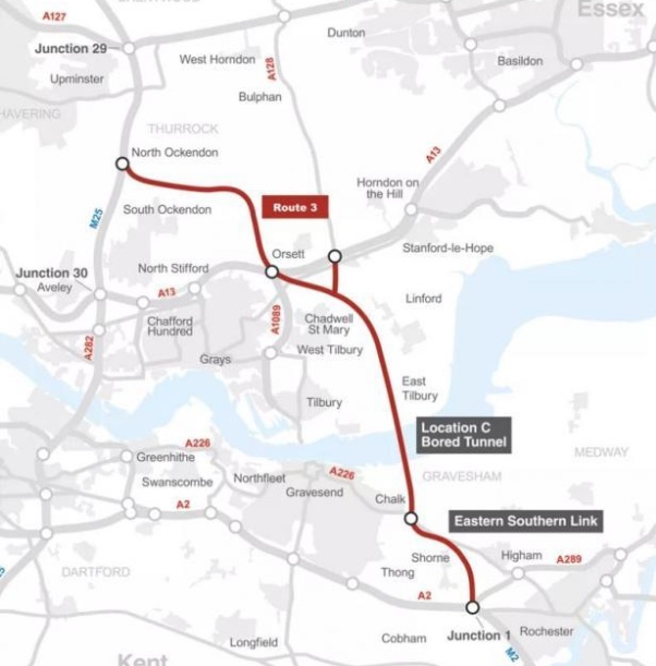 Route for new Thames Crossing announced