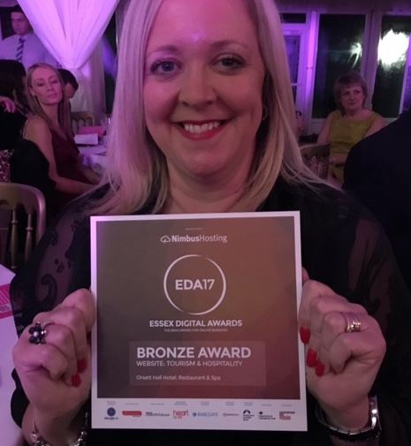Orsett Hall's website lauded at Essex Digital Awards event