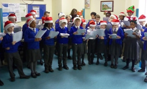 Pupils bring festive cheer to Orsett Hospital