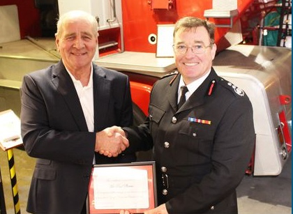 Grays pensioner receives commendation from Essex Fire service