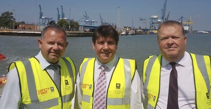 MP Stephen Metcalfe visits Port of Tilbury