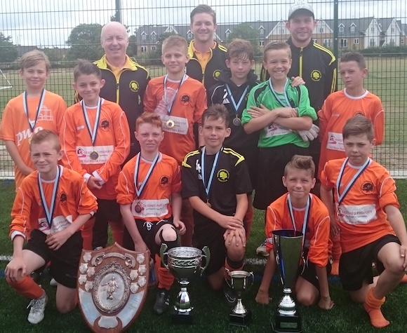 Football: Thurrock Primary Schools: Four Trophies – What a Season!