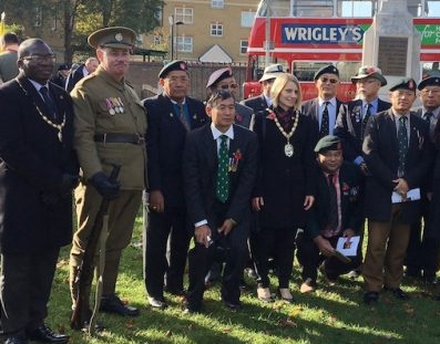 Remembrance Day Service in Purfleet
