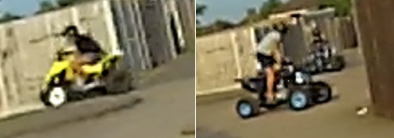 Quad bikers drive off from police in Tilbury