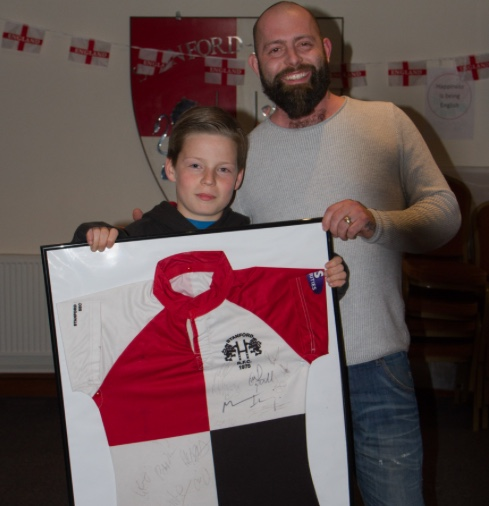 Big hearted little rugby player helps terminally ill coach