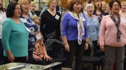 Royal Opera Thurrock Community Chorus in rehearsal for Ravi Shankar performance