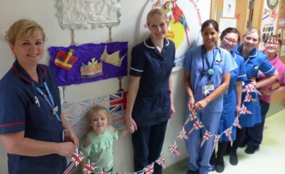Basildon Hospital struck by royal wedding fever
