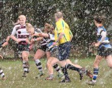 Rugby: T-Birds storm through hail and rain to beat Bath
