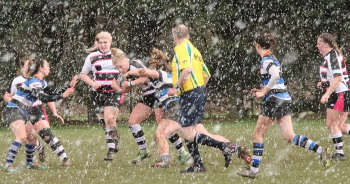 Rugby: T-Birds storm through hail and rain to beat Bath