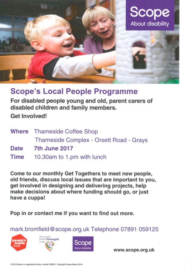 Scope's Local People Programme for Thurrock