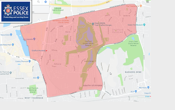 Halloween Dispersal Order for Lakeside and Chafford Hundred