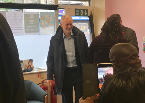 Labour leader Jeremy Corbyn praises One Community on visit to Tilbury