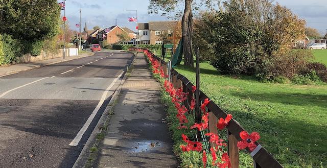 The WWI memorial in North Stifford