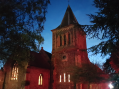 Grays parish church lit up for remembrance