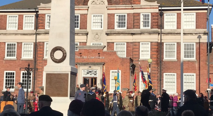 Thurrock remembers the fallen on Armistice Day