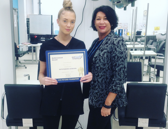 South Essex College: Achievement award for Hairdressing student