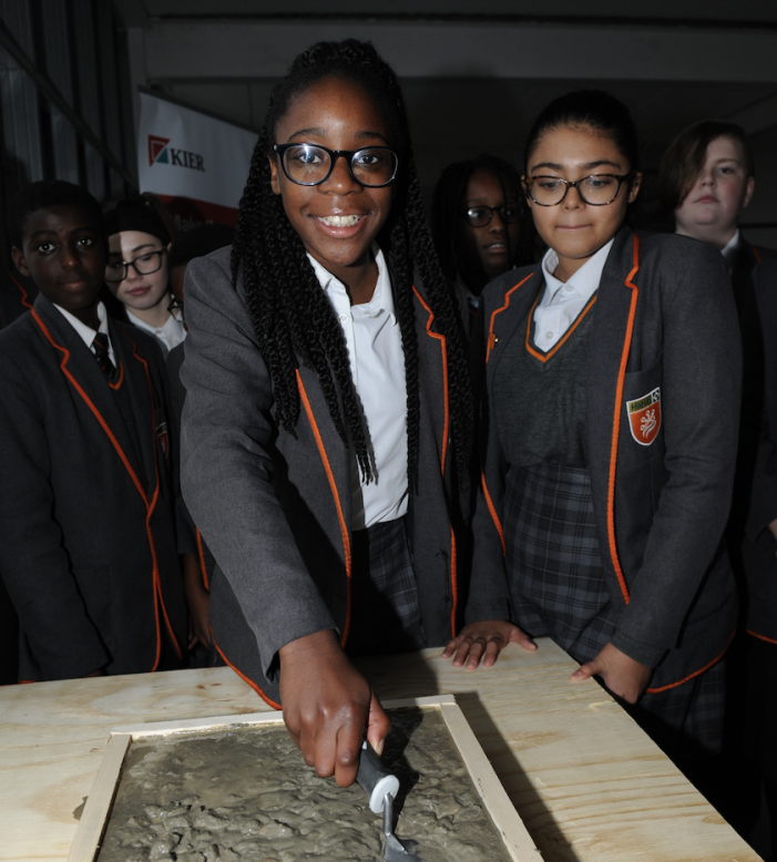 Construction milestone gives pupils a glimpse of new school in Purfleet