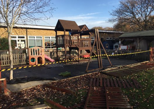 Anger at Woodside Academy as school playground vandalised