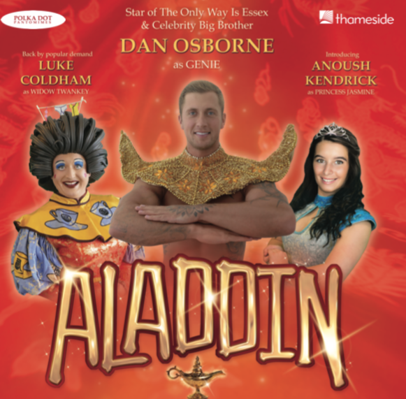 Review: Aladdin at the Thameside: From flying toilet rolls to Baby Shark and a TOWIE star!