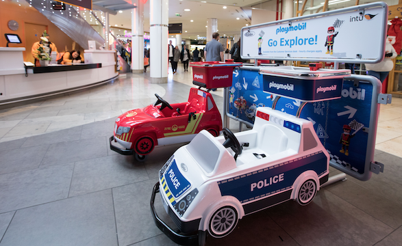 Playmobil vehicles rolled out at Intu Lakeside