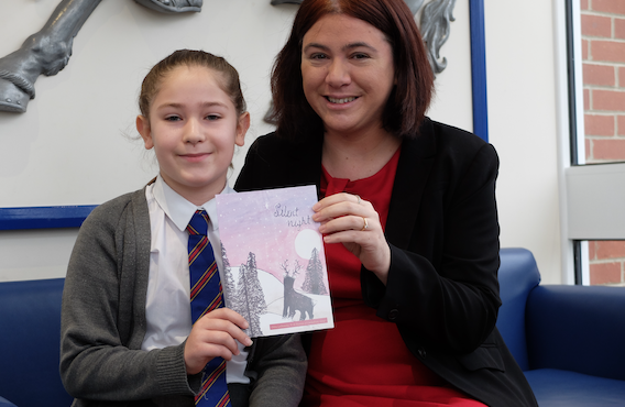 Grays pupil wins Christmas card competition