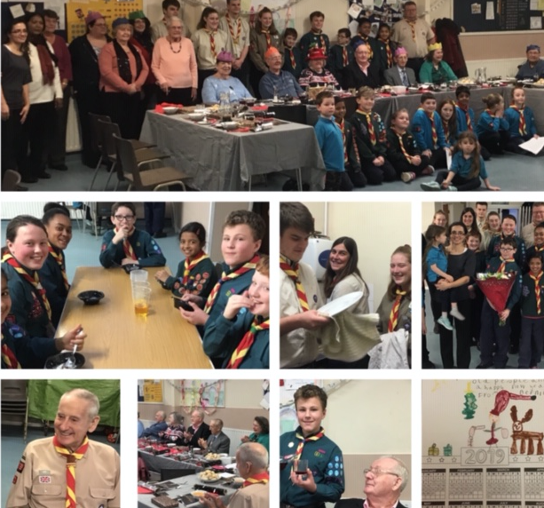 Chadwell Scouts play host to Contact the Elderly for Christmas