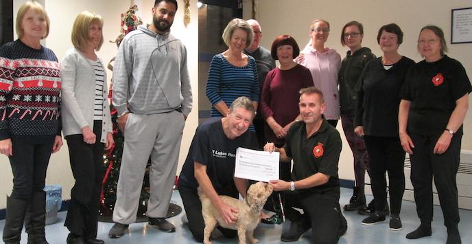Tai Chi and Yoga members donate to good causes