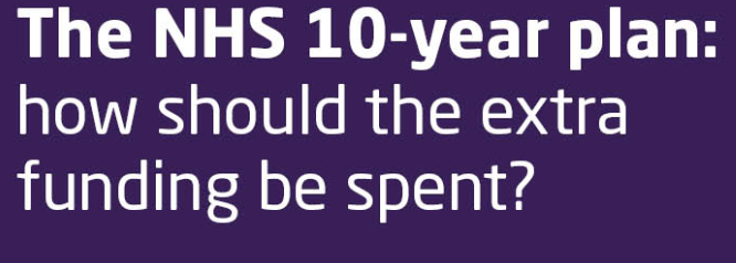 NHS bosses welcome government's ten year healthcare plan