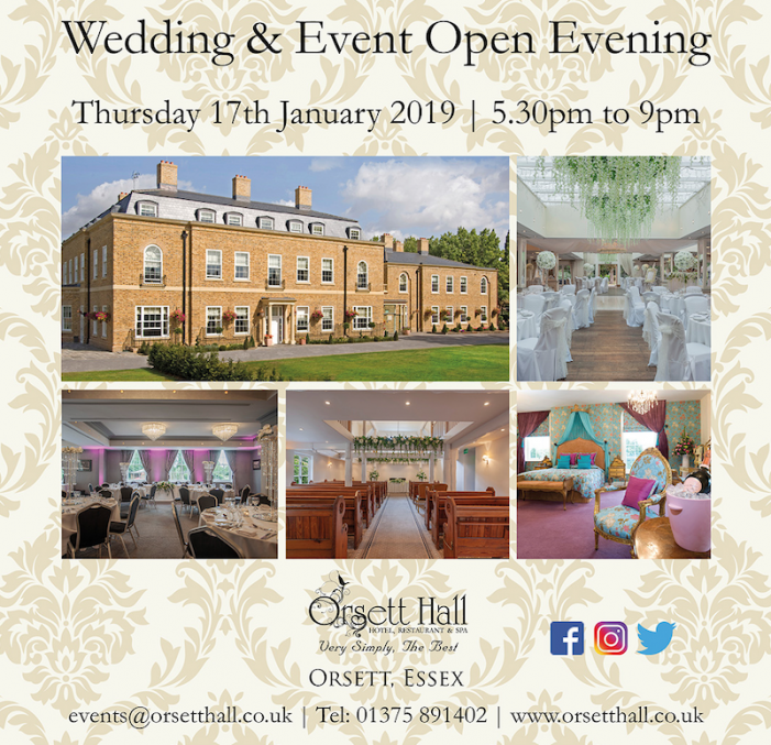 Orsett Hall Wedding and Event Open Evening