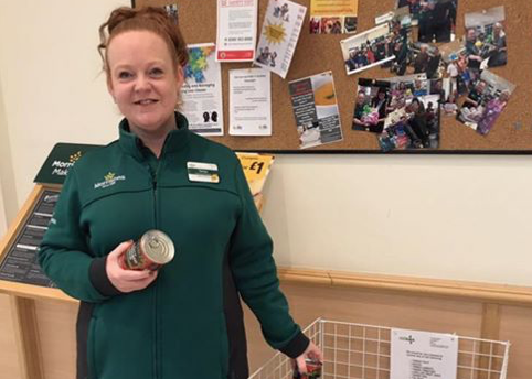 Thurrock Foodbank have collection point at Morrisons in Grays
