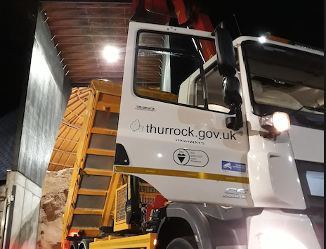 The gritters are out tonight in Thurrock