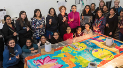 Kinetika commissioned to create silk scrolls for Neasden Temple