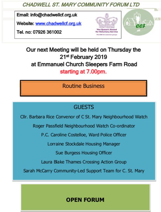 Chadwell St Mary Community Forum