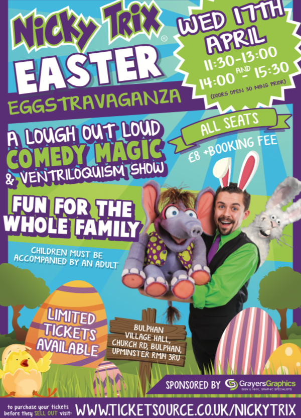 Nicky Trix Easter Eggstravaganza is coming to Bulphan