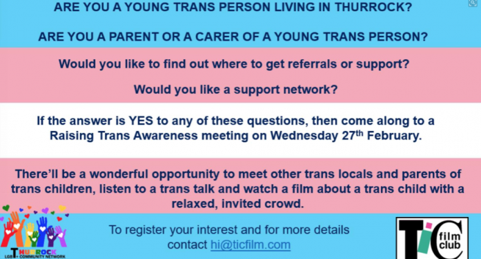 Are you a young trans-person living in Thurrock?
