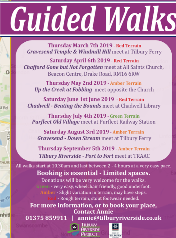 Guided Walks throughout Thurrock