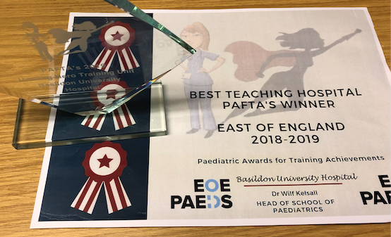 Paediatric team at Basildon Hospital win the Best Teaching Hospital Award