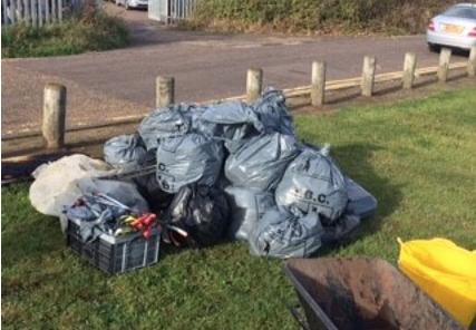 Grays Beachcombers collect litter, bottles, trolleys, a bed frame….