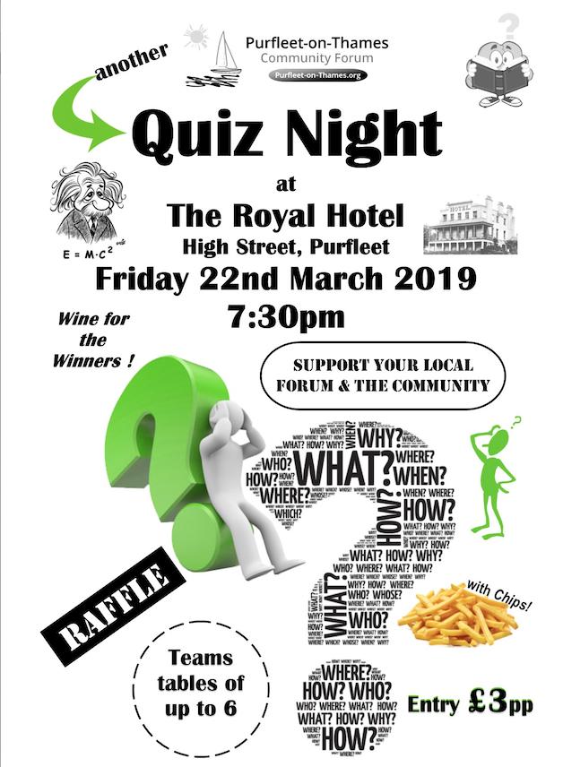 Purfleet-on-Thames Community to host Quiz Night