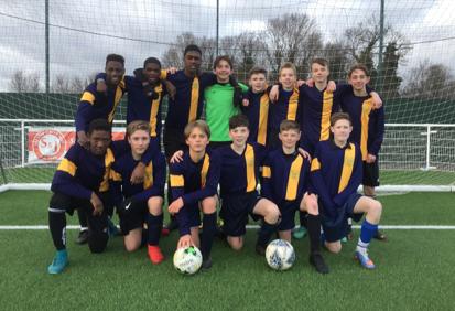Ockendon Academy Year 9 football team wins Essex Cup semi-final