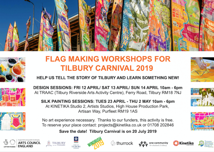 Would you like to make a flag for the Tilbury Carnival?