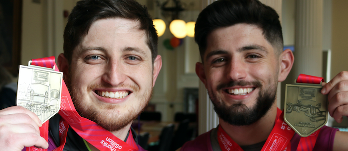 Stanford-le-Hope brothers conquer London Marathon for National Deaf Children's Society