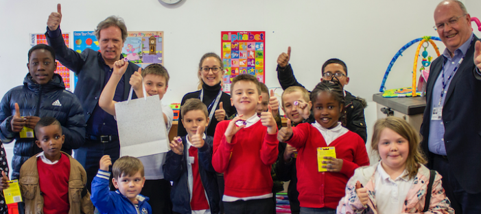 Pupils at Purfleet Primary School win art competition