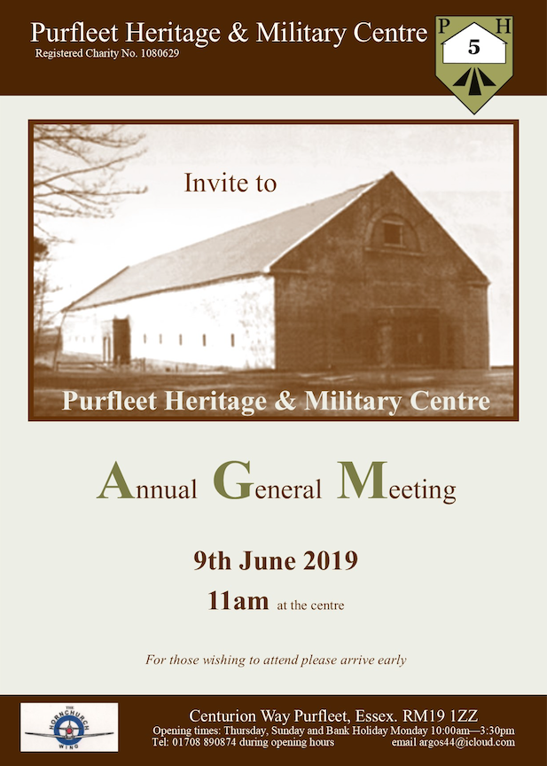 Purfleet Heritage Centre to hold AGM
