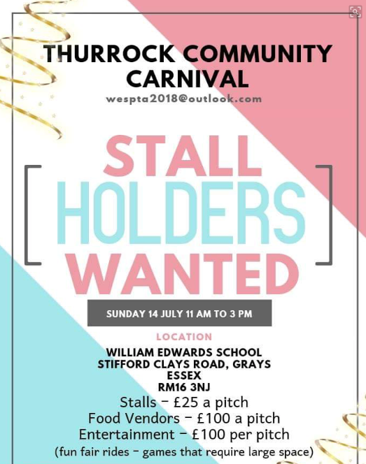 Thurrock Community Carnival is looking for Stall Holders