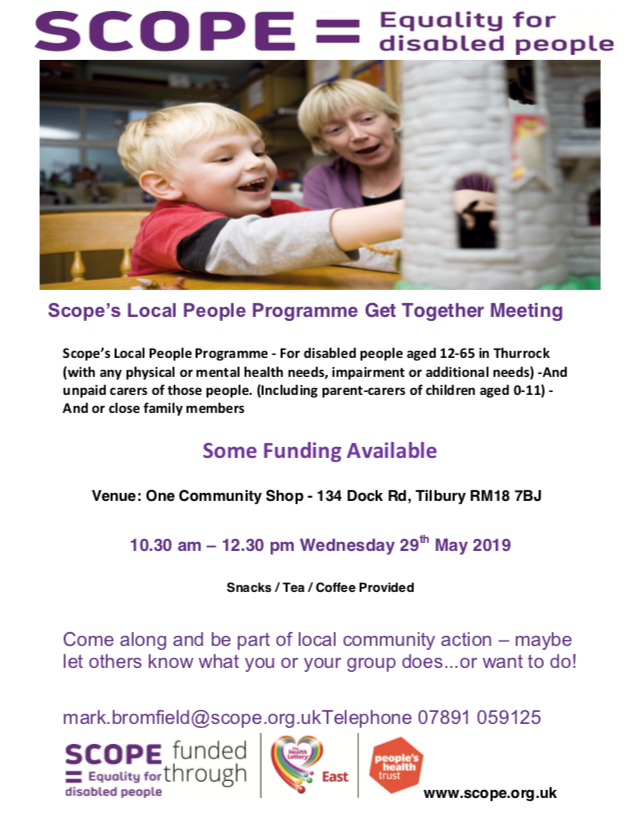 Scope's Local People Programme Get Together Meeting